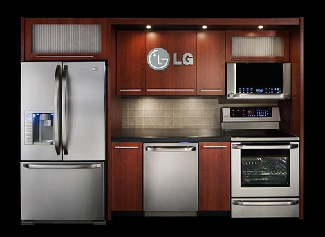 Stainless steel kitchen cabinets - Lg Kitchen Vignette